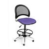 OFM Moon Swivel Stool, Blue
