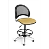 OFM Moon Swivel Stool, Golden Flax
