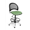 OFM Moon Swivel Stool, Sage Green