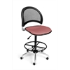 OFM Moon Swivel Stool, Coral