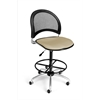 OFM Moon Swivel Stool, Khaki