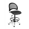 OFM Moon Swivel Stool, Graphite