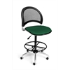 OFM Moon Swivel Stool, Forest Green