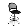 OFM Moon Swivel Stool, Black