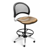 OFM Elements Moon Swivel Chair with Drafting Kit, Olympus Shoya