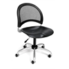 OFM Moon Swivel Plastic Chair, Black