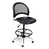 Moon Swivel Plastic Chair with Drafting Kit, Black