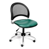 OFM Moon Swivel Vinyl Chair, Teal