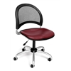 OFM Moon Swivel Vinyl Chair, Wine