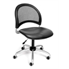 Moon Swivel Vinyl Chair, Charcoal