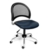 Moon Swivel Vinyl Chair, Navy