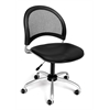 Moon Swivel Vinyl Chair, Black