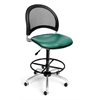 Moon Swivel Vinyl Chair with Drafting Kit, Teal