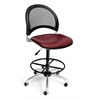 Moon Swivel Vinyl Chair with Drafting Kit, Wine