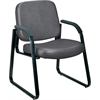Guest/Reception Chair (Vinyl), Charcoal