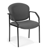 OFM Manor Series Guest/Reception Chair (4 legs), Gray