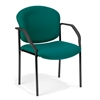 OFM Manor Series Guest/Reception Chair (4 legs), Teal