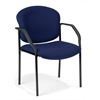 OFM Manor Series Guest/Reception Chair (4 legs), Navy