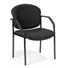 Manor Series Guest/Reception Chair (4 legs), Black