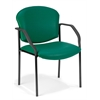 OFM Manor Series Guest/Reception Chair (4 legs, Vinyl), Teal