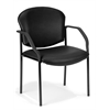 OFM Manor Series Guest/Reception Chair (4 legs, Vinyl), Black