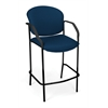 Manor Series CafT Height Chair with Arms, Navy