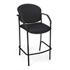 OFM Manor Series CafT Height Chair with Arms, Black