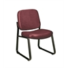 Armless Vinyl Guest / Reception Chair Wine