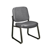 Armless Vinyl Guest / Reception Chair Charcoal