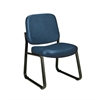 Armless Vinyl Guest / Reception Chair Navy