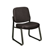 Armless Vinyl Guest / Reception Chair Black