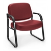 Big & Tall Vinyl Guest/Reception Chair Wine