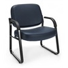OFM Big & Tall Vinyl Guest/Reception Chair Navy