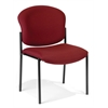 OFM Armless Stack Chair, Wine
