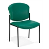 Armless Stack Chair - Vinyl, Teal