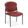 Armless Stack Chair - Vinyl, Wine