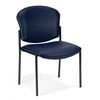 Armless Stack Chair - Vinyl, Navy