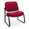 OFM Big & Tall Armless Guest / Reception Chair, Wine