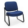 OFM Big & Tall Armless Guest / Reception Chair, Navy