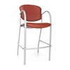 Danbelle Series Cafe Height Vinyl Chair, Wine