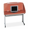 "OFM Modular Study Carrel 24"" x 48"", Cherry"