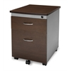 OFM Mobile File Pedestal, Walnut