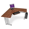 RiZe Panel System 5' x 5' Workstation, Cherry