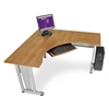 OFM RiZe Panel System 5' x 5' Workstation, Maple