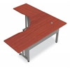 "OFM L-Shapped Workstation 72"" x 72"" with 30"" D Top, Cherry"
