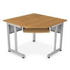 RiZe Panel System 5-Sided Corner Table 30 x 30, Maple