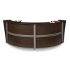 OFM Double-Unit Marque Reception Station, Walnut