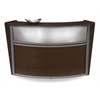 Single-Unit Marque Plexi-Reception Station, Walnut