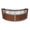 OFM Double-Unit Marque Plexi-Reception Station, Cherry