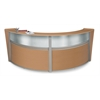 OFM Double-Unit Marque Plexi-Reception Station, Maple